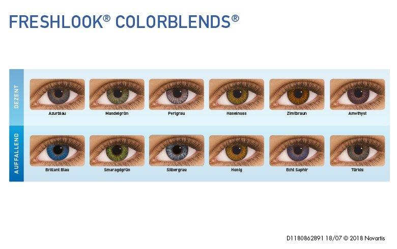 Aussehen farbige echt kontaktlinsen die Farbige Kontaktlinsen